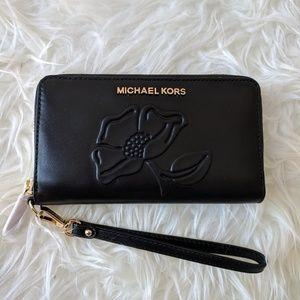Michael Kors Nouveau Floral Large Flat Phone Case